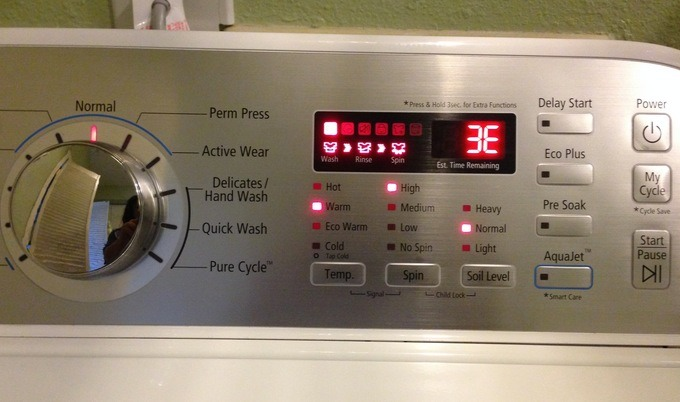 Washer Displays An Error Code   Uncle Harry's Mobile Repair Wizard
